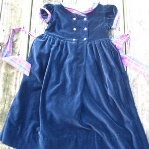 Strasburg Boutique Midnight Blue Velvet Dress 4Y